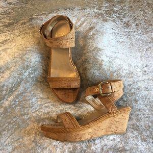 Stuart Weitzman cork platforms
